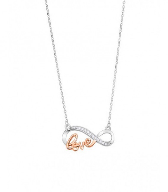 COLLAR INFINITO LOVE LOTUS SILVER - LP3214-1/1