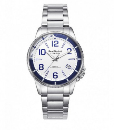 RELOJ CADETE ACERO REAL MADRID BY VICEROY - 42296-07